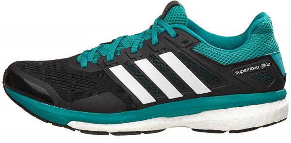 ... adidas supernova glide boost 8 men black/white/eqt green ... BGCEXWG
