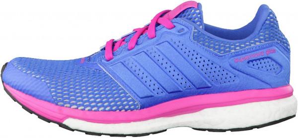 ... adidas supernova glide boost 8 woman blue (super blue/super blue/shock  pink ... CFOWUJQ