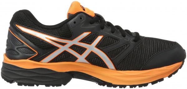 ... asics gel pulse 8 men black (black/silver/hot orange) RDYVGEK