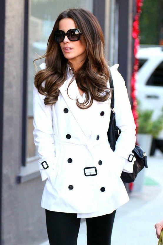 #street #fashion white trench coat / fall @wachabuy HKVOQVC