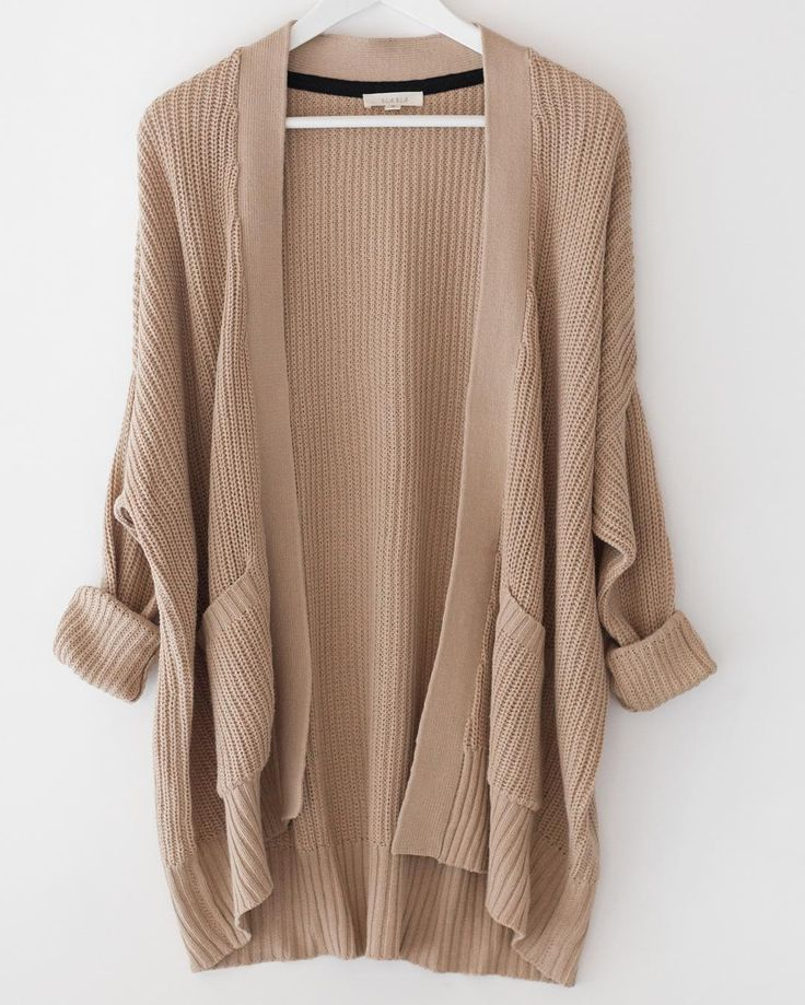 Wearing chunky knit cardigans to enhance your look ...