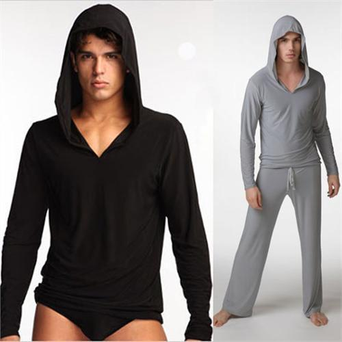1 men man yoga lounge suit wear figure-flattering sexy sports silky vest + DHICUWX