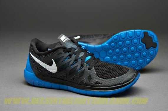 100% true kids running shoes - nike boys free 5.0 - black/white/ ZGXFZPA