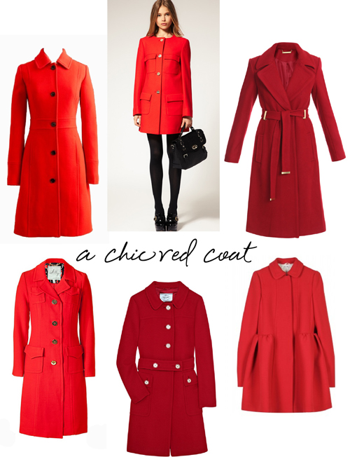 a chic red coat for fall JSGMZKL