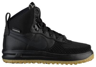 acg nike boots nike acg lunar force 1 duckboots - boysu0027 grade school - black / tan NSKHEOV