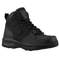 acg nike boots nike acg manoa - boysu0027 grade school - all black / black OWDDEBI