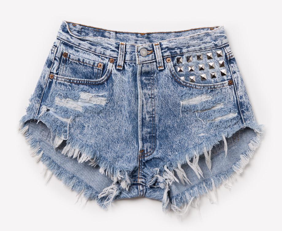 acid wash shorts alexx vintage acid wash studded shorts | runwaydreamz BQSYEUC