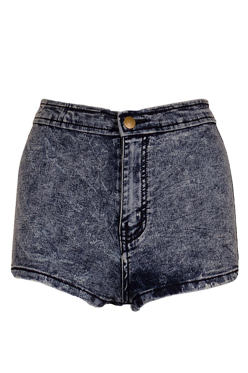 acid wash shorts denim tap hotpant shorts acid wash highwaisted slim form fitting denim  shorts | LJZRJBJ