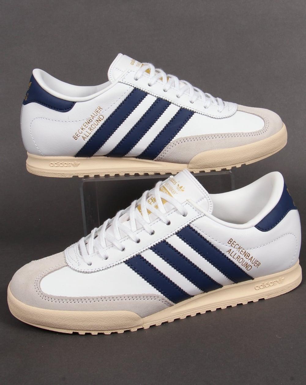 adidas beckenbauer allround adidas beckenbauer trainers white/navy/gold OYWADGC