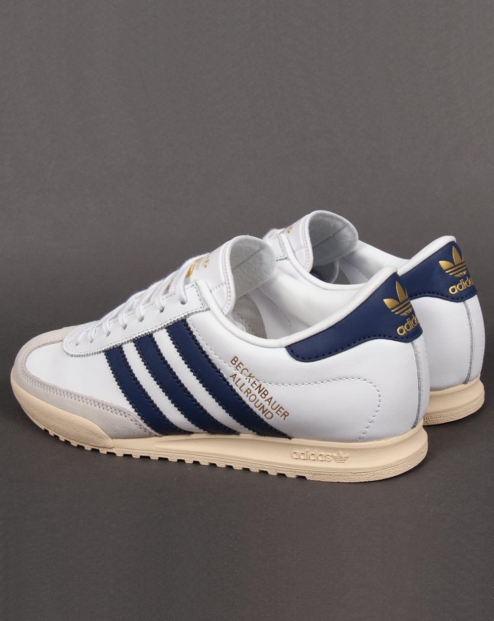 adidas beckenbauer allround adidas beckenbauer trainers white/navy/gold YSNMUNT