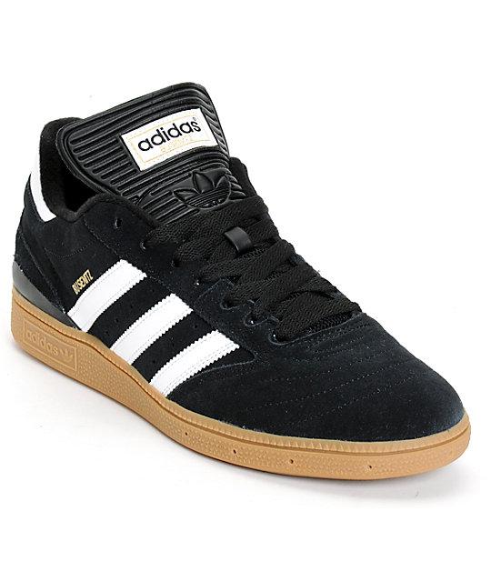 adidas busenitz pro black, white, u0026 gum shoes UZAKREG