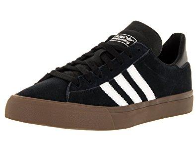adidas campus vulc adidas menu0027s campus vulc ii black/wwht/gums skate shoe 7.5 men us TRXESDF