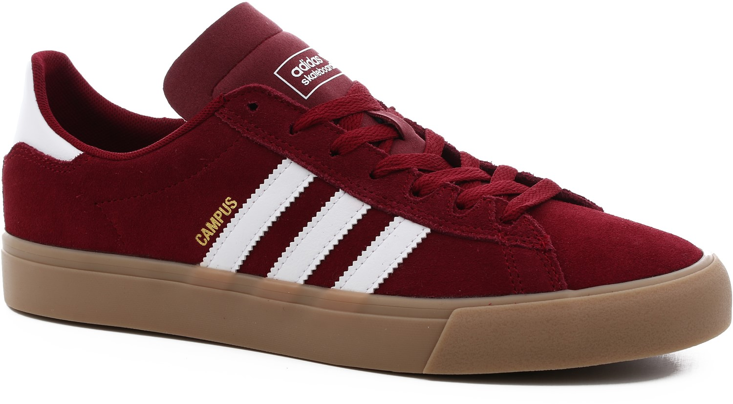 adidas campus vulc collegiate burgundy/white/gum4 EUCDNCY