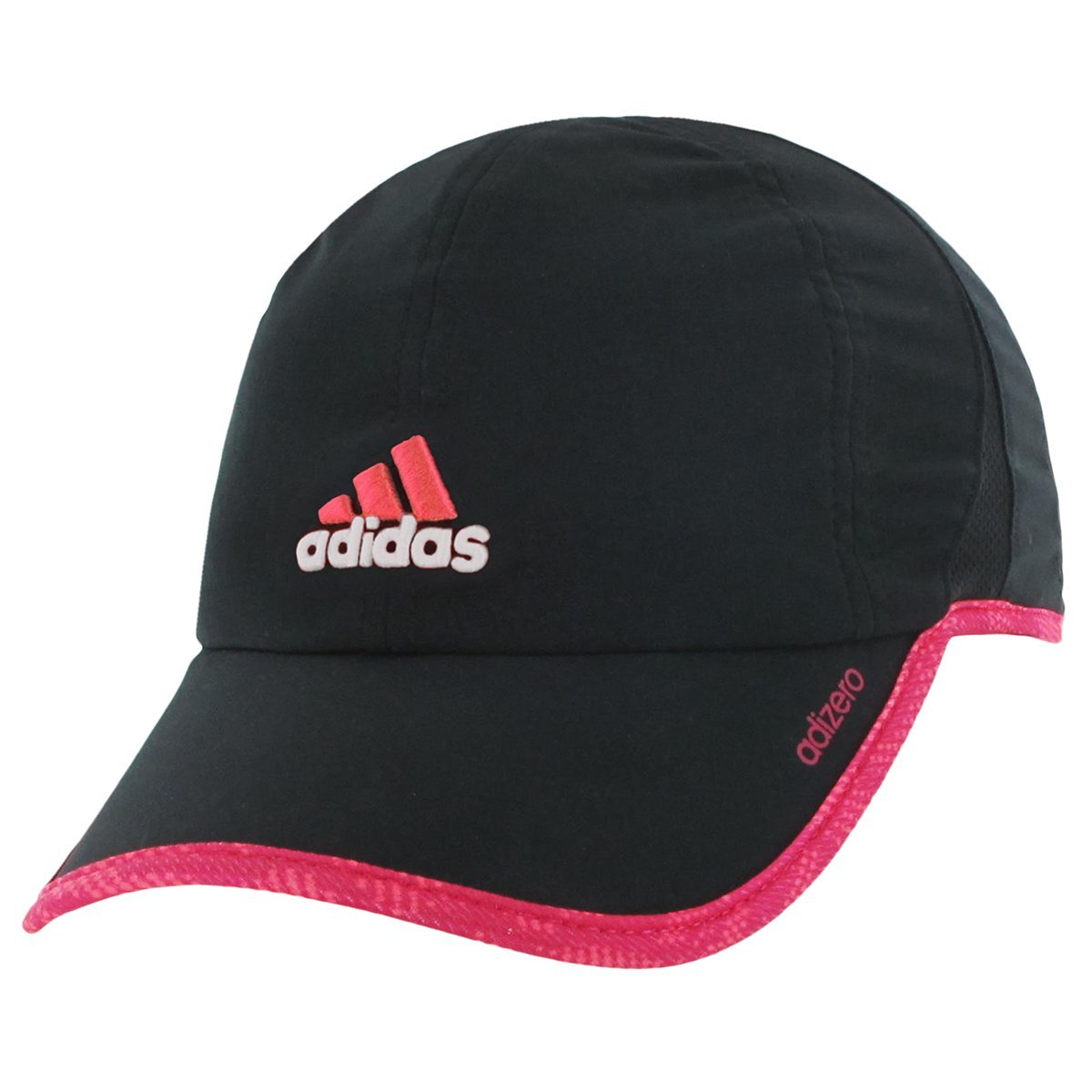 adidas cap amazon.com: adidas womenu0027s adizero ii cap, one size, black/poison ivy bold  pink/flash red ULZXJGX