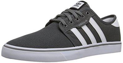 adidas classic shoes adidas originals menu0027s seeley skate shoe,ash grey/white/black,4 m DYSGQOT