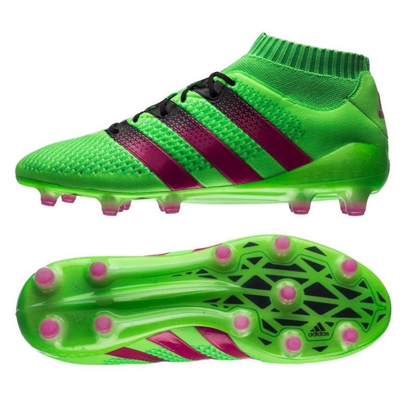 adidas cleats adidas ace 16.1 primeknit fg soccer cleats (solar green/shock pink/black) QAVNSAY