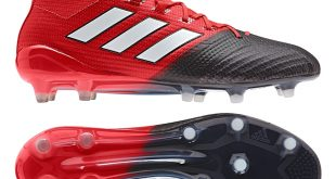 adidas cleats adidas ace 17.1 primeknit fg soccer cleats (red/white/black) WJLXDNA