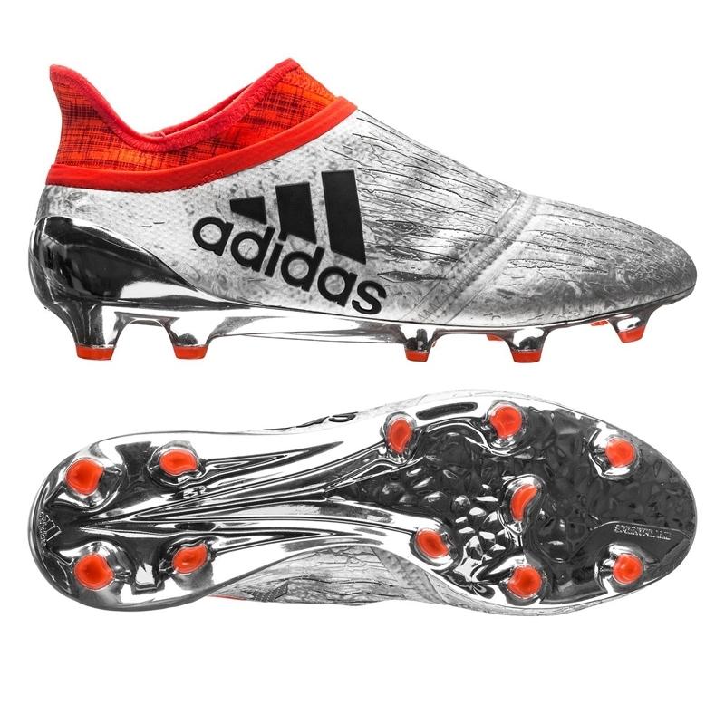 adidas cleats adidas x 16+ purechaos fg soccer cleats (silver metallic/black/solar red) ZVKRSWC