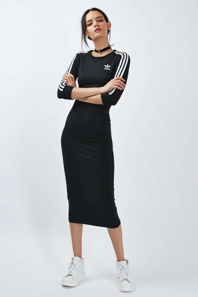 adidas dress three stripe maxi dress by adidas originals | topshop LWGDAPG