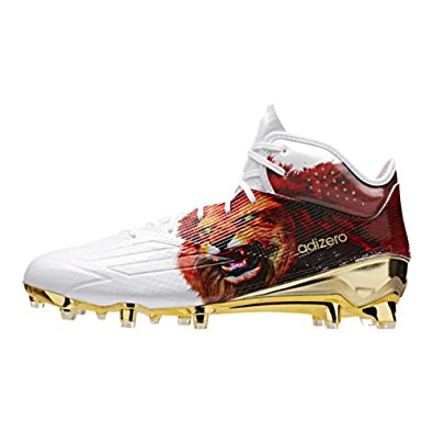 adidas football cleats adidas adizero 5star 5.0 mid uncaged mens football cleat 16 lion-white-gold  met FMXHATL