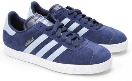 adidas gazelles adidas gazelle 2 dark indigo with argentina blue stripes and white soles,  suede XMEJKQO