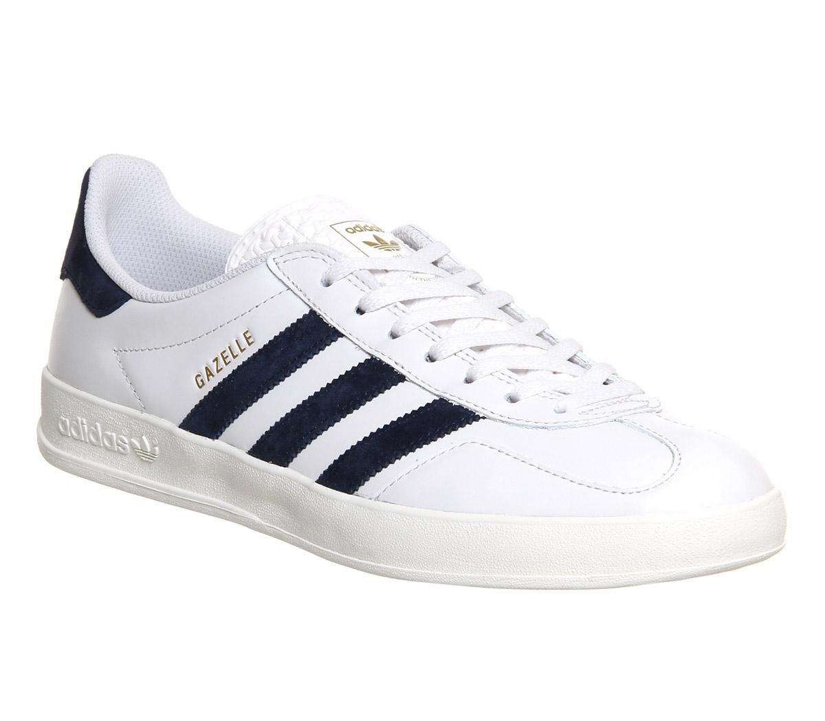 adidas gazelles adidas-gazelle-indoor-vintage-white-leather-exclusive-trainers- VTYMWJC