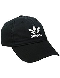 adidas hats adidas menu0027s originals relaxed strap back cap, black/white, one size CGUOFRG