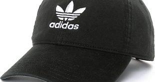 adidas hats adidas trefoil curved bill black strapback hat KFNXVIQ