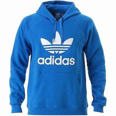 adidas jumper adidas originals 3foil hoody blue-white trefoil hoodie sweatshirt jumper new GCYCZEZ