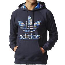 adidas jumper adidas originals mens slim fit hooded hoodie hoody sweatshirt jumper top -  navy WOMDZJC