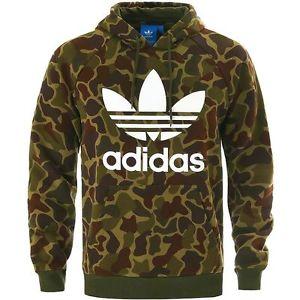 adidas jumper image is loading adidas-originals-camo-hoody-multicolor-trefoil-hoodie- sweatshirt- IFSMBJQ