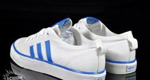 adidas nizza adidas originals nizza hi + lo - white - blue - sneakernews.com LKZWANT