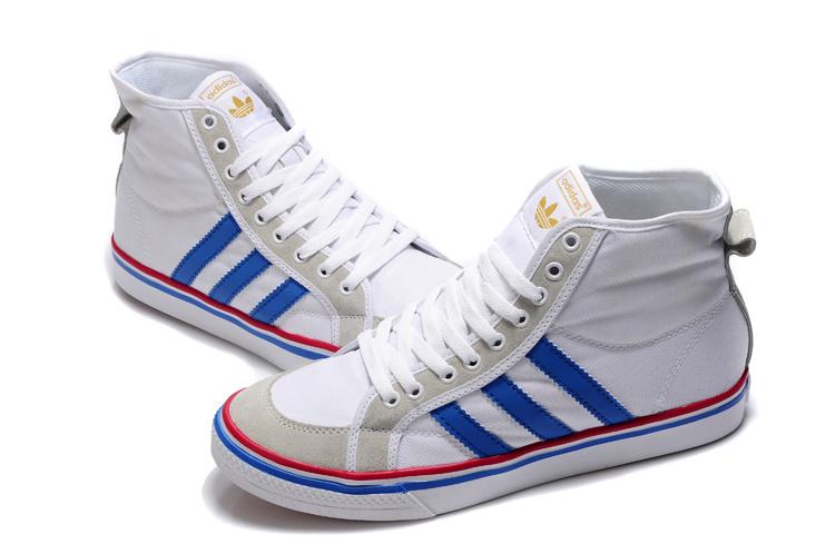 adidas nizza hi white blue HMZIFTZ