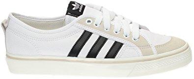 adidas nizza lo menu0027s canvas sneakers, white/black/white, ... BGTPCOX