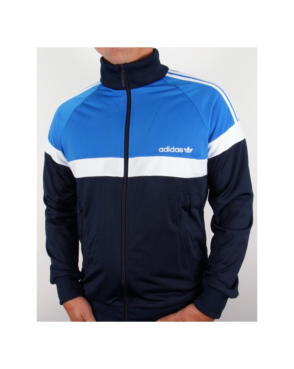 adidas originals tracksuit adidas originals itasca track top navy/royal blue YVQVTCO