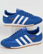 Adidas Retro adidas originals - adidas dragon trainers in blue u0026 white, retro old skool IMWGEFH
