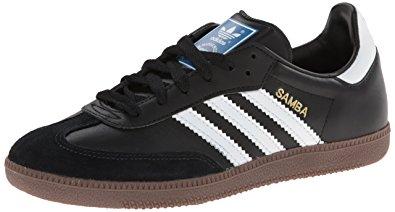 adidas samba shoes adidas originals menu0027s samba soccer-inspired sneaker,black/white/gum,7.5 SEWVXHH