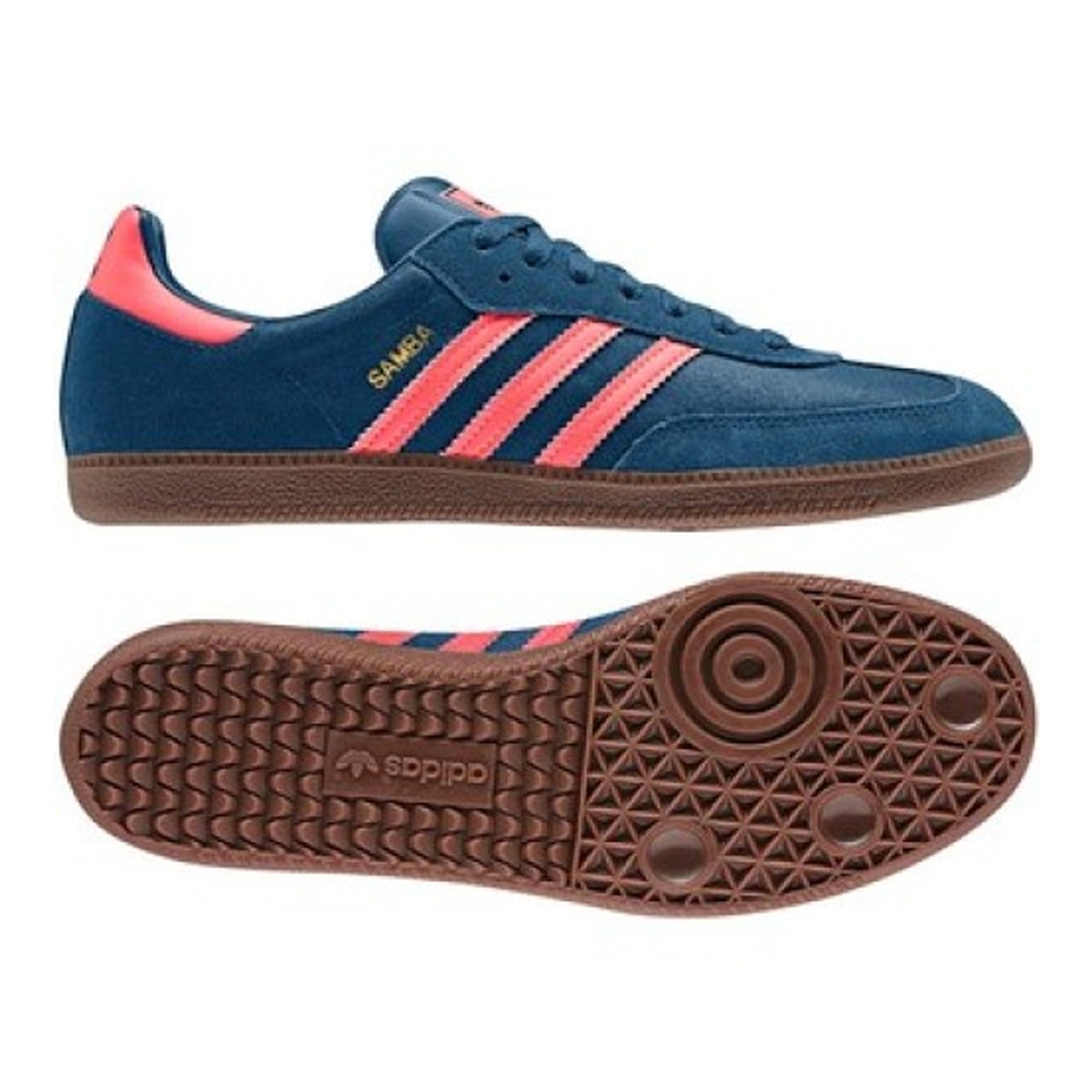 adidas samba shoes adidas samba originals indoor soccer shoe (tribe blue/red zest/gum) MKTFZVX