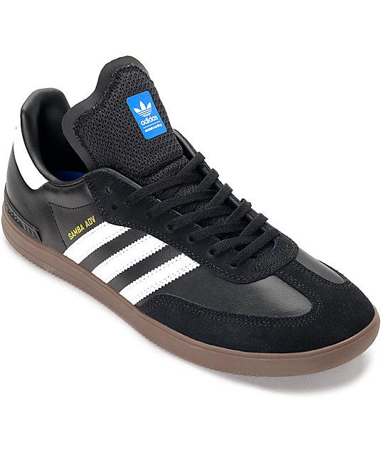 adidas sambas adidas samba adv black, white u0026 gum shoes NSJVWZX