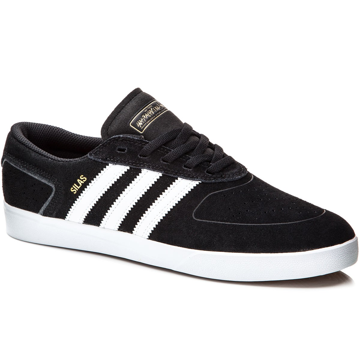 adidas silas vulc shoes - black/white/red - 6.0 PEPRZDS