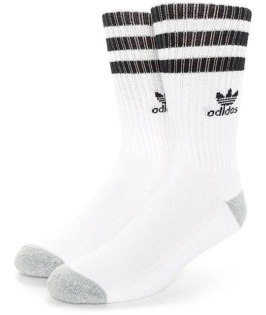 adidas socks adidas originals roller white u0026 black crew socks AQVKWDC