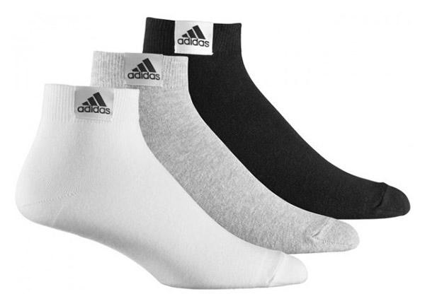 adidas socks plain thin ankle 3 pairs CUPKEHD