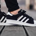 Adidas Superstar Black Shoes – Equipped with Herringbone Pattern!