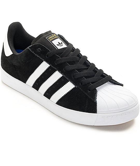 adidas superstar black adidas superstar vulc adv black u0026 white shoes VFHOZVP