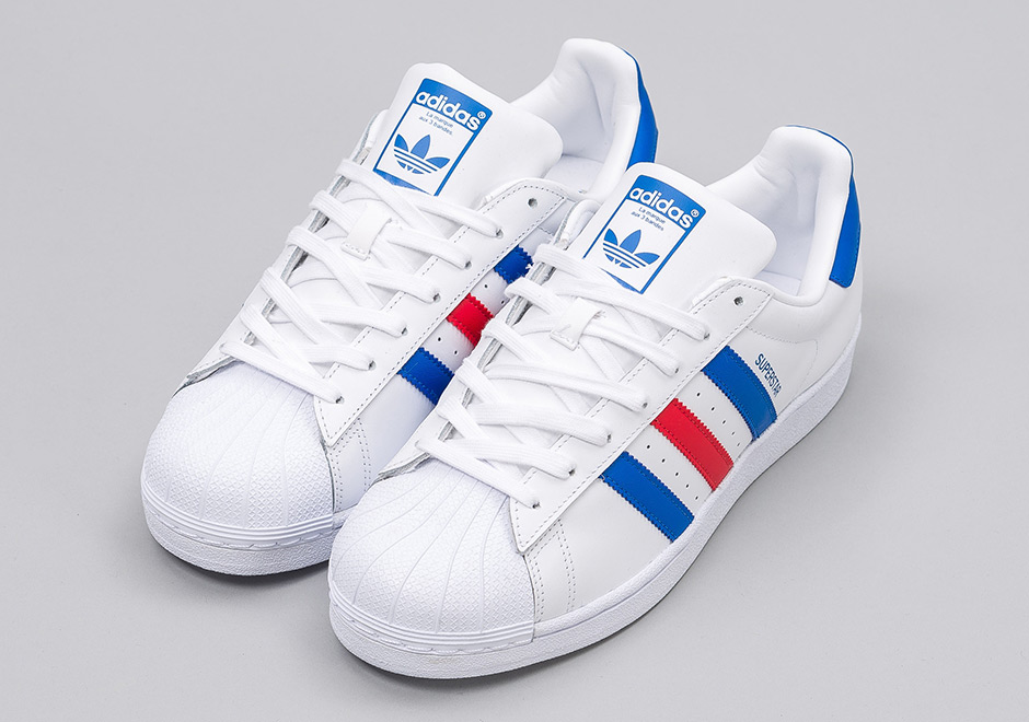 adidas superstar white red blue bb2246 | sneakernews.com NPVIBIE