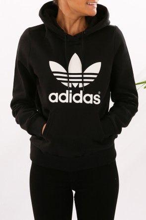adidas sweater adidas - trefoil logo hoodie black $80 shop // http://www. SBWKCYL