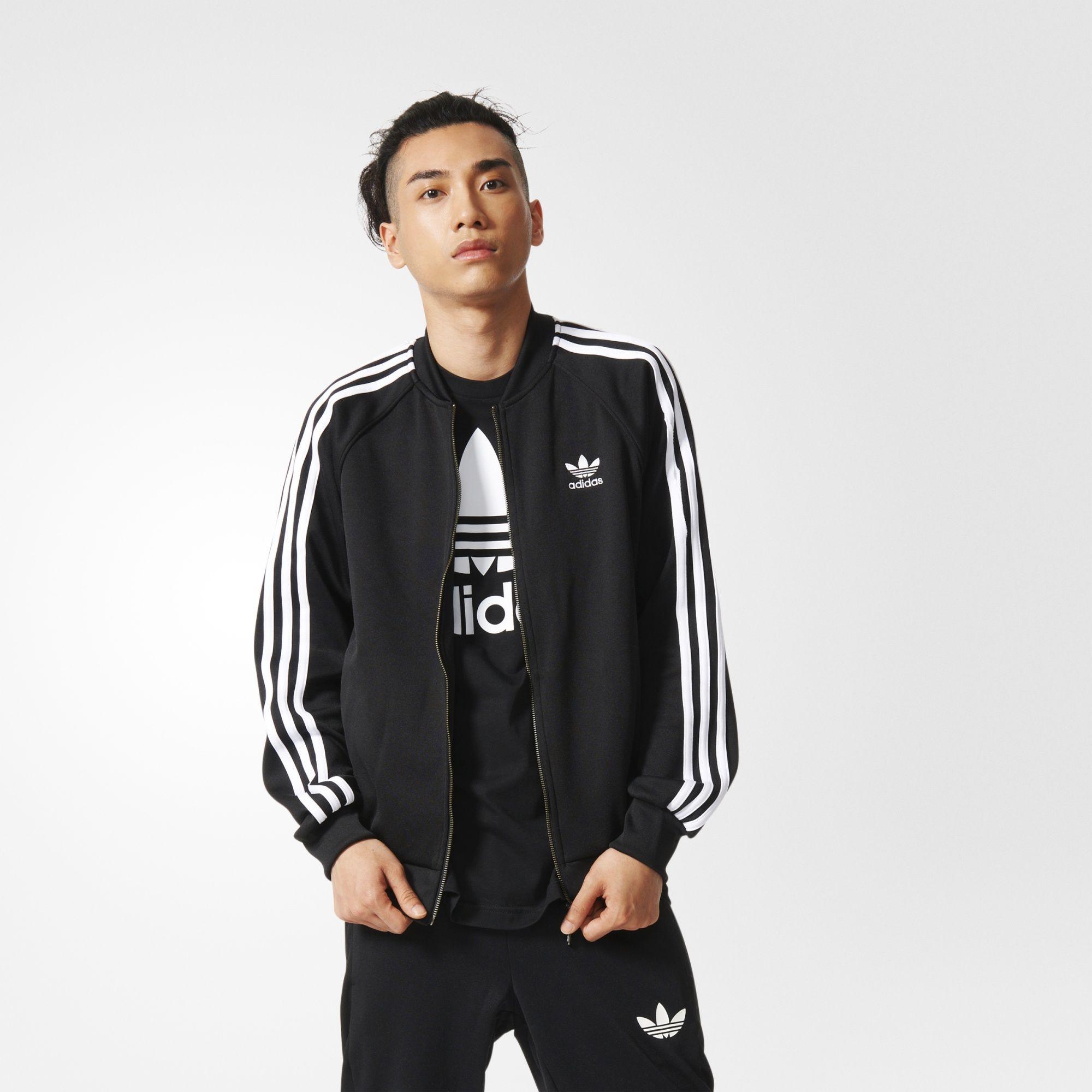 adidas track jacket adidas · adidas - superstar track jacket UWIQTWA