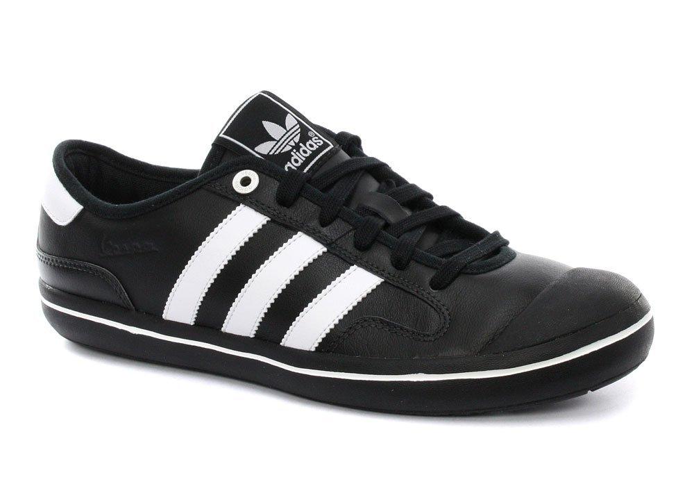 adidas vespa vulc lp black white leather GRMELCQ