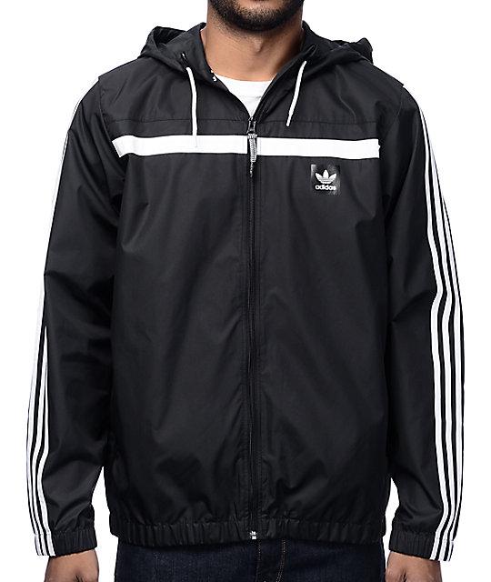 adidas windbreaker 2 black jacket HGUOVAW