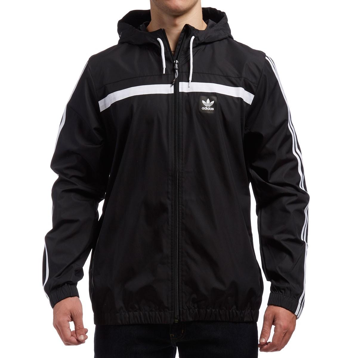 adidas windbreaker 2 jacket - black/white UEUJSPD